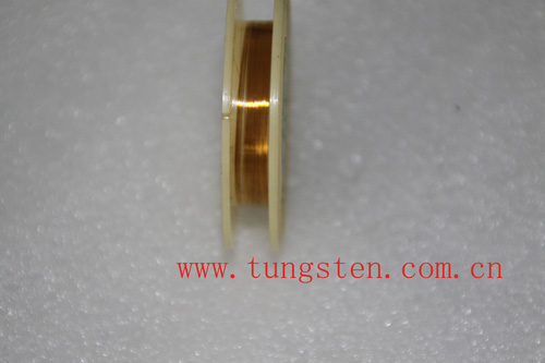 gold plated tungsten wire