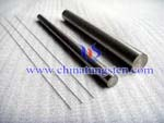 tungsten rod with grounded surface